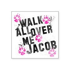 "walk all ovr me-wht Square Sticker 3"" x 3"""