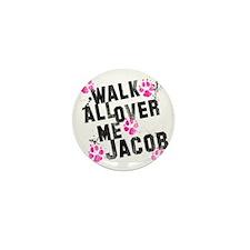 walk all ovr me-wht Mini Button