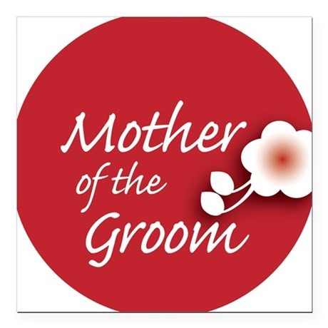 "2-button_motherGroom Square Car Magnet 3"" x 3"""