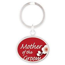 2-button_motherGroom Oval Keychain