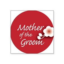 "2-button_motherGroom Square Sticker 3"" x 3"""