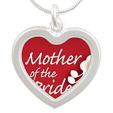 2-button_motherBride Silver Heart Necklace