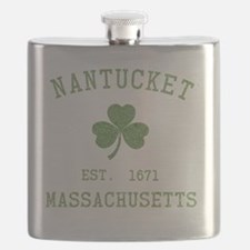 nantucket-massachusetts-irish Flask