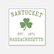 """nantucket-massachusetts-iri Square Sticker 3"""" x 3"""""""