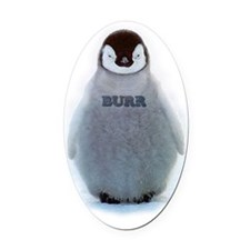 Baby Gucci Penguin BURR Oval Car Magnet