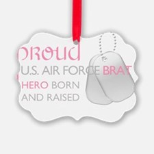 ProudUSAFBratPink Ornament