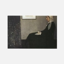 Whistlers Mother Rectangle Magnet