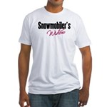 Snowmobiler's Widow Fitted T-Shirt