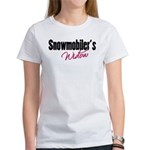 Snowmobiler's Widow Women's T-Shirt