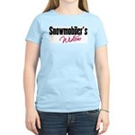 Snowmobiler's Widow Women's Pink T-Shirt
