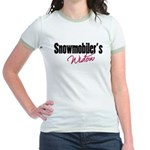 Snowmobiler's Widow Jr. Ringer T-Shirt
