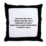 Invade & Intercept Throw Pillow
