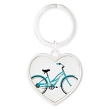 Happiness is a Beach Cruiser Heart Keychain