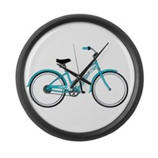 Happiness is a Beach Cruiser Large Wall Clock