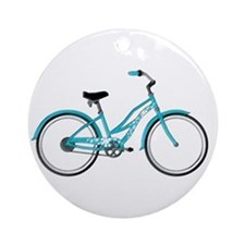 Happiness is a Beach Cruiser Round Ornament