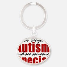 Look beyond autism and see someone s Oval Keychain
