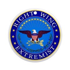Right Wing Extremist Round Ornament