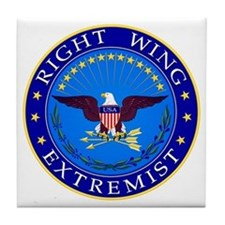 Right Wing Extremist Tile Coaster
