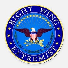 Right Wing Extremist Round Car Magnet
