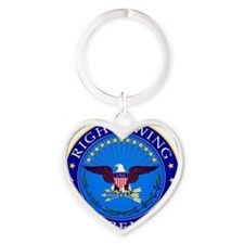Right Wing Extremist Heart Keychain