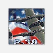 """p38 3 Square Sticker 3"""" x 3"""""""