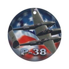 p38 3 Round Ornament