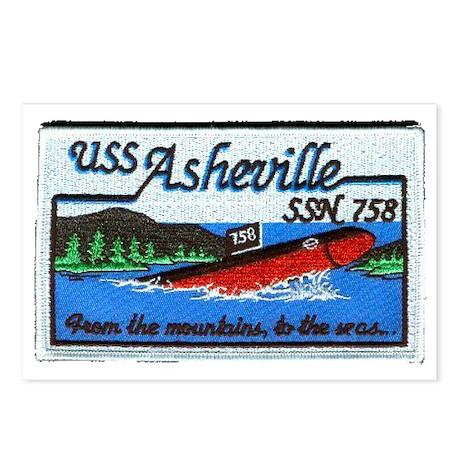 asheville patch transpar Postcards (Package of 8)