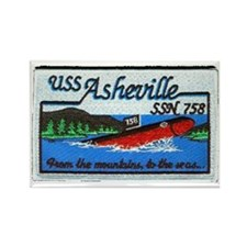 asheville  patch transparent Rectangle Magnet