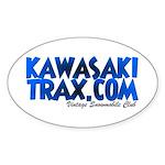 KawasakiTrax.com Logo Oval Sticker