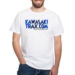 KawasakiTrax.com Logo White T-Shirt