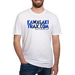 KawasakiTrax.com Logo Fitted T-Shirt