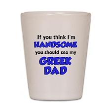 Greek Dad Baby Shirt Shot Glass
