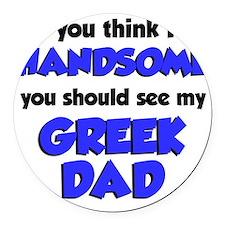 Greek Dad Baby Shirt Round Car Magnet