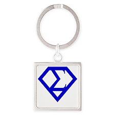 2-supersigma Square Keychain