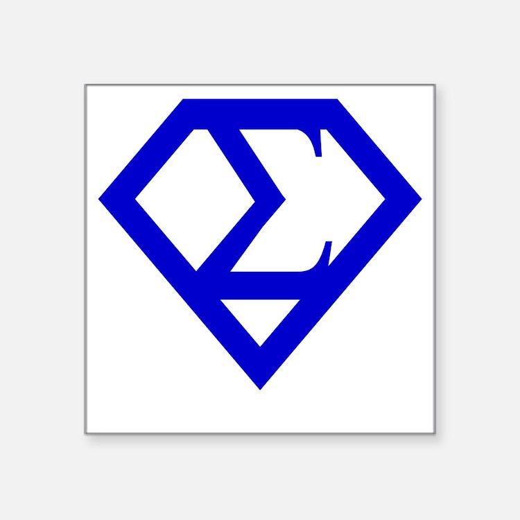 """2-supersigma Square Sticker 3"""" x 3"""""""