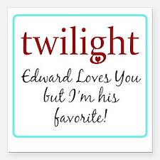 """edwardlovesyoub Square Car Magnet 3"""" x 3"""""""