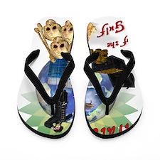 BP Gulf Oil Spill Pirates Flip Flops