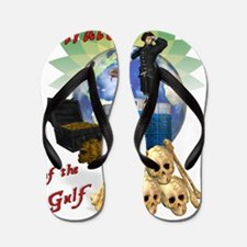 BP Gulf Oil Spill Pirates Flip Flops