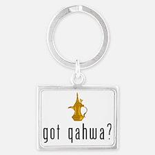 got qahwa? Landscape Keychain