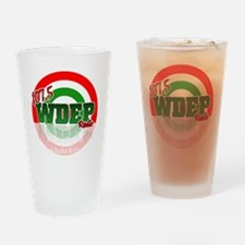 WDEP 1k Black Back Drinking Glass