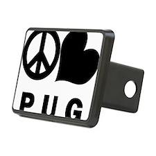 FIN-peace-love-pug-CROP Hitch Cover