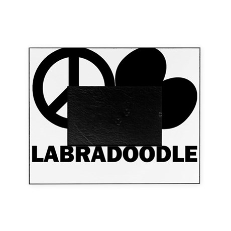 Peace Love Labradoodle. Picture Frame