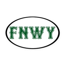 FenwayNeighborhood Oval Car Magnet