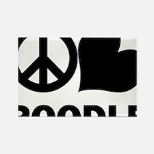 FIN-peace-love-poodle-CROP Rectangle Magnet