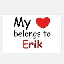 My heart belongs to erik Postcards (Package of 8)