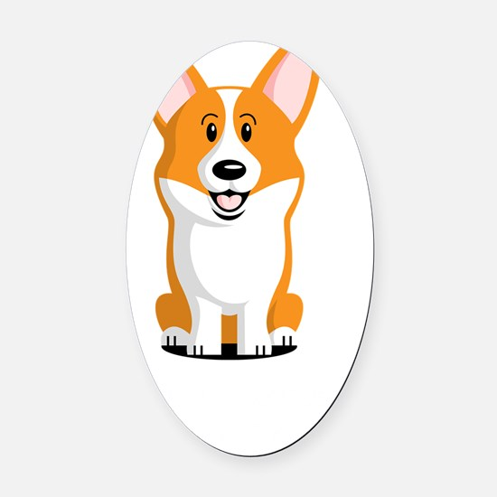 Life-is-better-with-a-Corgi-dark Oval Car Magnet