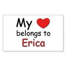 My heart belongs to erica Rectangle Decal