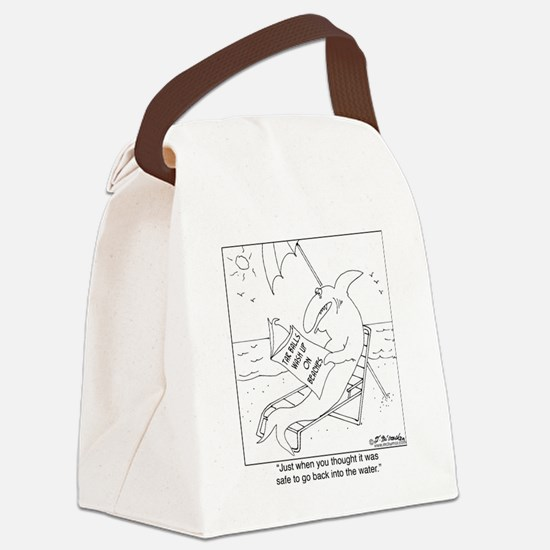 8527_oil_spill_cartoon Canvas Lunch Bag