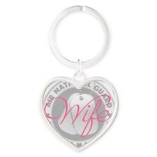 ANGWifeLogoGrey Heart Keychain