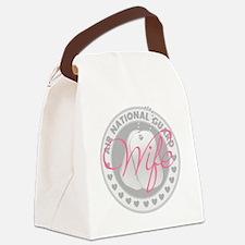 ANGWifeLogoGrey Canvas Lunch Bag